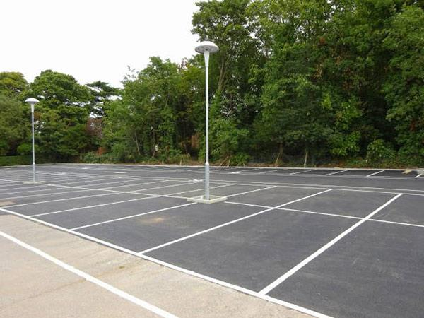 car park with line markings