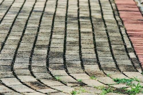 removing block paving stains