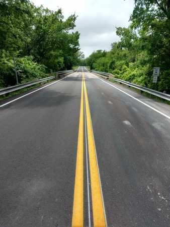 road thermoplastic line marking