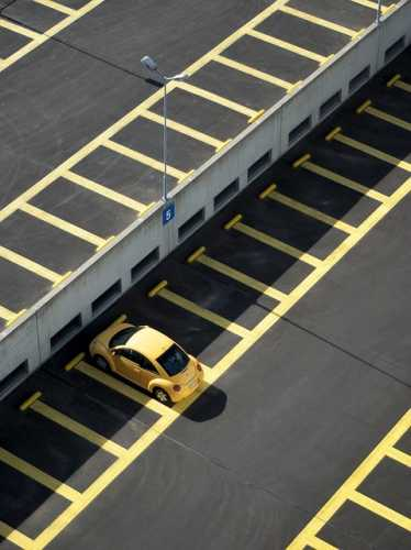 car park thermoplastic line marking