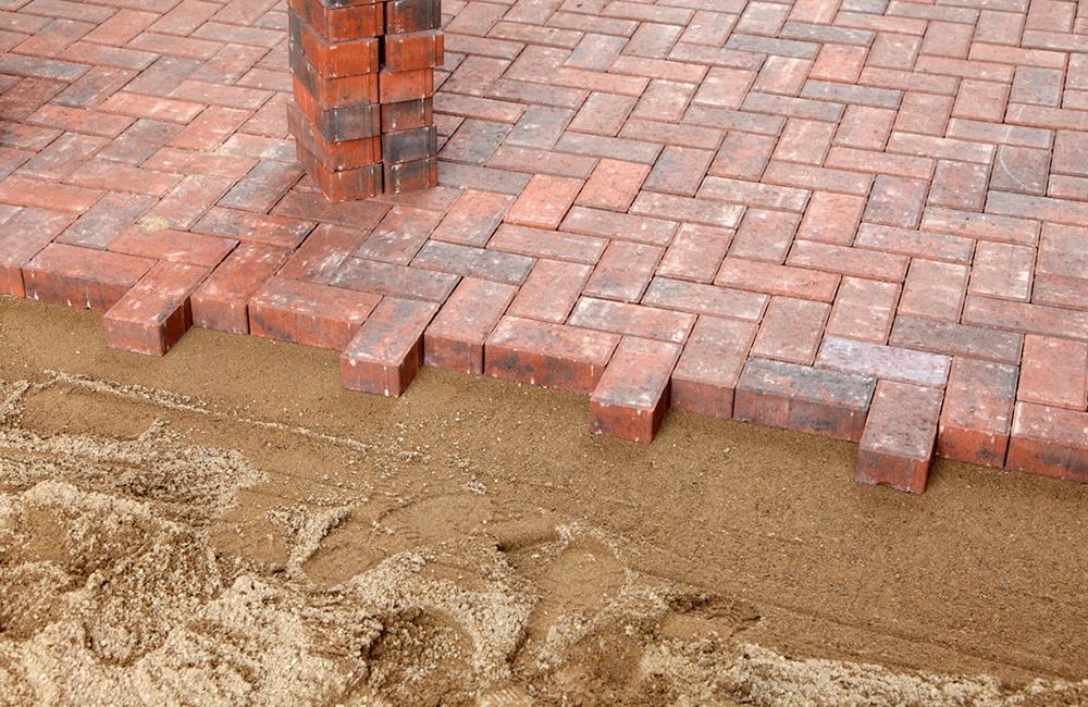 red block paving