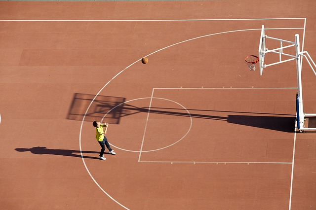 basketball court line marking
